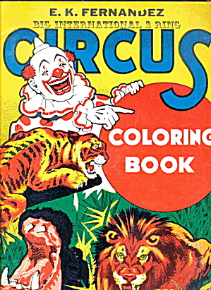 Hawaii E K Fernandez Circus Coloring Book