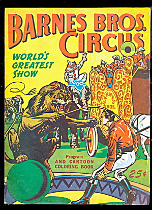 1949 Barnes Bros Circus Program & Coloring Book