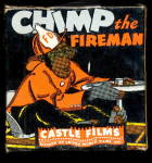 "Click here to enlarge image and see more about item 0008MM25: 8 MM Movie ""Chimp The Fireman"" 1930s"