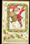 1908 Santa Claus Jumping for Joy Postcard
