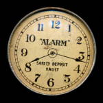 "Click here to enlarge image and see more about item 000BANK4: ""Alarm"" Safety Deposit Vault Savings Bank"