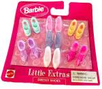 Click here to enlarge image and see more about item 000BARB669: 1991 Barbie Little Extras Shoes/Boots Mint on Card
