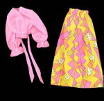 Click here to enlarge image and see more about item 000BARB8683: MOD 1973 Barbie 8683 Best Buy Skirt & Blouse