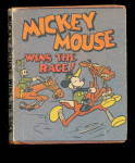 1934 Mickey Mouse - Wins the Race  Miniature Book
