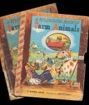 Click here to enlarge image and see more about item 000BONNIE1: 2 'Farm Animals' Bonnie 1949 Childrens Books