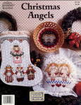 "Click here to enlarge image and see more about item 000BOOK3: ""Christmas Angels"" Jeremiah Junction X-Stitch"