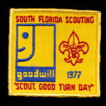 Click here to enlarge image and see more about item 000BSPATCH2: 1977 South Florida Scouting Boy Scouts Patch