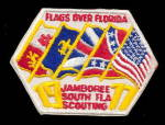 Click here to enlarge image and see more about item 000BSPATCH3: 1977 Flags over Florida Boy Scouts Patch
