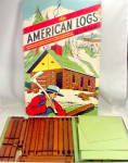 Click here to enlarge image and see more about item 000BUILD1: 1950 Hal-Sam Toy Company 'American Logs' Set