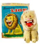 Click here to enlarge image and see more about item 000CELL585: 1950s Japan ALPS Mechanical Roaring Lion in Box