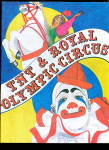 Click here to enlarge image and see more about item 000CIRCUS35: 1977 TNT & Royal Olympic Circus Coloring Book