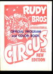 Click here to enlarge image and see more about item 000CIRCUS46: 1972 Rudy Bros Circus Program & Coloring Book