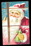 1907 Tucks Santa Claus Peering Into Window Postcard