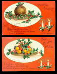 2 1907 Ellen Clapsaddle Christmas Postcards