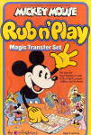Click to view larger image of 1978 Mickey Mouse Rub N'Play Transfer Set (Image1)