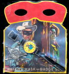 Click here to enlarge image and see more about item 000COWB20: 1950s Western/Cowboy Watch/Mask & Star Mint in Pkg