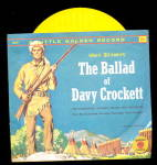 Click here to enlarge image and see more about item 000DAV27: The Ballad of Davy Crockett Little Golden 1950s Record
