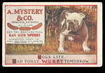 1910 A Mystery & Co Bulldog Wurst Postcard