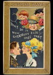 Click here to enlarge image and see more about item 000DWIG1: Tucks 'School Days' Children Dwig 1911 Postcard