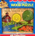 Click here to enlarge image and see more about item 000FISP20: 1978 Fisher Price Wooden Puzzle #522 Mint in Box