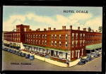 Click here to enlarge image and see more about item 000FL5: Ocala, FL, Hotel Ocala, 1930s Postcard