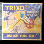 MARX Tin Bicycle Toy TRIXO Wonder Cyclist on Card