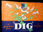 "Click to view larger image of ""Dig"" 1940s Board Game - Parker Bros (Image1)"