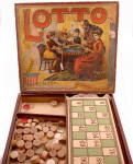 Click here to enlarge image and see more about item 000GAM65: 1880s McLoughlin Brothers Large LOTTO Game