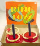 Click to view larger image of Pressman 1930s Indoor Ring-Toss Pitching Game (Image1)
