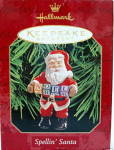 "Click to view larger image of Hallmark ""Spellin Santa"" Keepsake Ornament (Image2)"