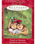 Click here to enlarge image and see more about item 000HALL24: Hallmark 2000 'Friends in Harmony' Birds Ornament