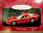 Click here to enlarge image and see more about item 000HALL3: Hallmark Keepsake 1997 Corvette Car Ornament