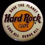 Click here to enlarge image and see more about item 000HARDROC2: Hard Rock Cafe 'Love All, Serve All' Pin Back