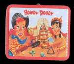 Click here to enlarge image and see more about item 000HOW1954: Hard to Find 1954 ADCO Howdy Doody Metal Lunchbox