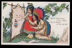 Click here to enlarge image and see more about item 000IND4: Lovely American Indian Love Chiefs 1907 Postcard