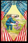 Click here to enlarge image and see more about item 000JUL021: Decoration Day Man with Cannon 1907 Postcard