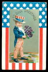 4th of July Greetings Boy in Patriotic Suit Postcard