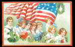 Click here to enlarge image and see more about item 000JUL543: 1907 Tucks Decoration Day Children Postcard