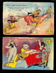 Click here to enlarge image and see more about item 000LEAP1: 2 1908 Leap Year Humorous Postcards