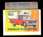 1971 Big Wheels Lindberg Pickup & Camper Mint in Box