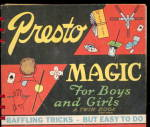Click here to enlarge image and see more about item 000MAGIC2: 1945 Presto Magic For Boys & Girls Twin Book