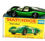 1960s Matchbox 45 Ford Group 6 Car in Box
