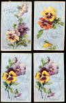 Click here to enlarge image and see more about item 000MECH3: 4 PFB Flower Series 1907 Postcards