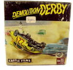 "Click here to enlarge image and see more about item 000MOV2: ""Demolition Derby"" 8mm Movie Reel in Box"