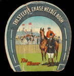 Click here to enlarge image and see more about item 000NEED18: 1910 Sewing 'The Steeple Chase Needle Book' w Horses