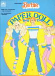 Click here to enlarge image and see more about item 000PAPD14: 1985 Great Shape Barbie Paper Dolls