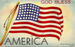 "Click to view larger image of ""God Bless America"" US Flag Postcard (Image1)"