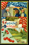 George Washington Patriotic w Flags 1907 Postcard