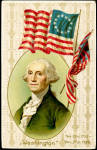 Winsch George Washington Patriotic w Flag 1907 Postcard