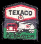 Click here to enlarge image and see more about item 000PATCH2: Vintage Texaco Gas Oil 1950-1960 Uniform Logo Patch
